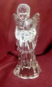 Vintage Glass Angel Candle Holder (1970s)