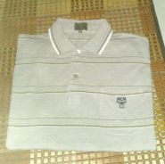 MCM Golf Polo Stripe Single Pocket T-Shirt