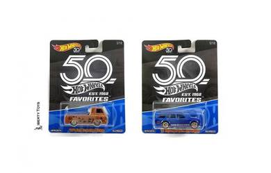Hotwheels 2018 50th Anni #FLF35-956A Set Of 2pcs
