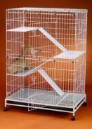 Cat Cage White BESAR 3 Level C233RI White