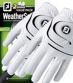 FJ Mens LH WeatherSof Golf Gloves 2pcs