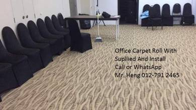 Natural Office Carpet Roll with install gf564894