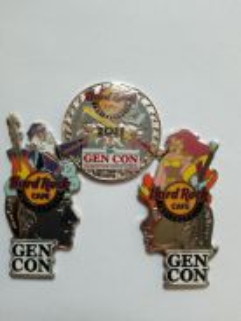 Hard Rock Cafe Indianapolis Gencon 2011 pins