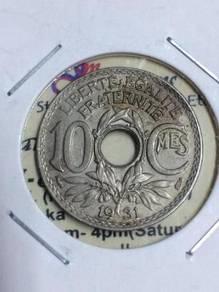 10 CeNT FRANCS 1931