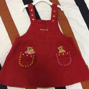 Woollen dress with straps