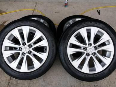 18 Original Vellfire 2012 rims Conti tyres 5H114.3