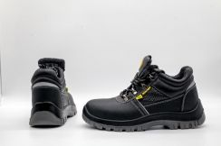 Black Safety Shoes With Toe Cap 200 Joule