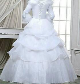 Pre order long sleves wedding dress S-XXL