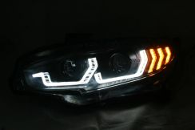 Honda Civic FC 16- Head Lamp with Crystal Bar