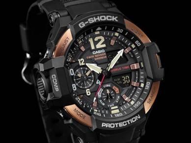 Watch- Casio GRAVITY COMPASS GA1100RG-1-ORIGINAL