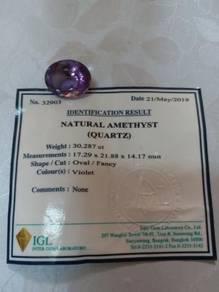 Natural amethyst