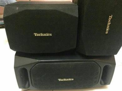 Technics surround + center speaker