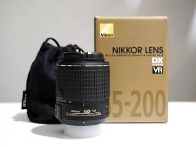 Nikon 55-200mm AF-S DX F4-5.6G ED VR II�