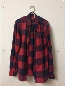 H&M; Checkered Flannel Boyfriend Shirt