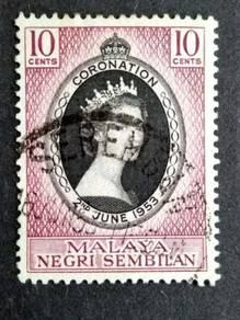 Malaya 1953 Negri Sembilan Queen Elizabeth II #1