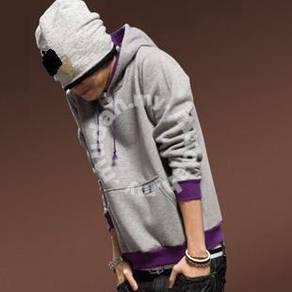 Madman Hoodies Sweater Slim Pullover Jacket - Grey