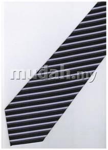 EPP09 Purple Black Quality Striped Formal Neck Tie