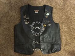 Harley Davidson Mens HOG Leather Vest Jacket