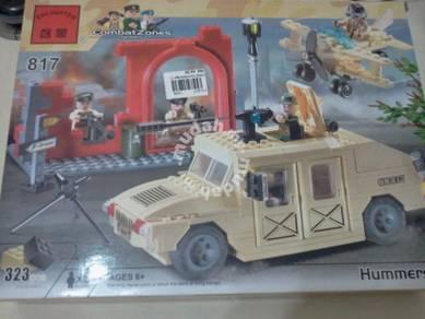 Bricks - Enlighten 817 Hummer Army building block