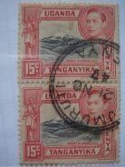 1938 KENYA Kg George VI 15c Stamps, Blk in 2 -Used
