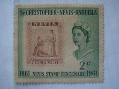 1961 St.Christoper Nevis & Anguilla 2c Stamps