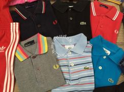 Kids genuine fred perry lacoste and canterburry