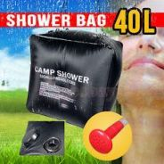 40L 10 Gallon Camping Solar Heated Camp Shower Bag