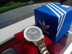 Brand new adidas silver color steel watch