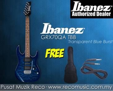 New Ibanez Electric Guitar GRX70QA TBB