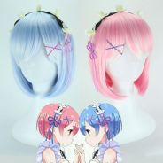 RE:ZERO Rem Ram cosplay wig