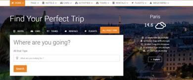 Flight & hotel affiliate Website-JH1