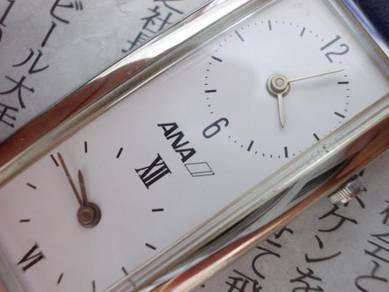 Original Ana airline japan dual time watch lady