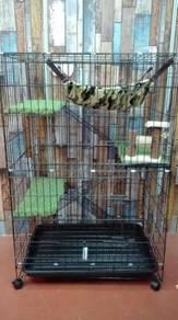 New Cat Cage BESAR - Sangkar Kucing 3 TKT