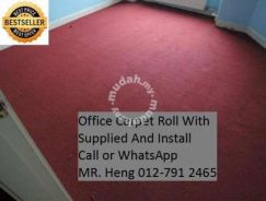 Natural Office Carpet Roll with install 56vf4b5g48