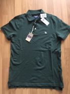 ABERCROMBIE & FITCH green polo size S BRAND NEW