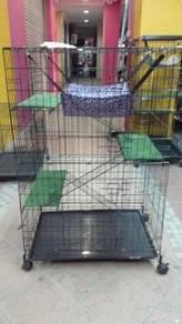 New Cat Cage - Sangkar 3 Tingkat