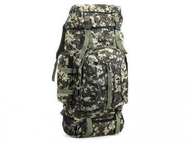 Backpack 75L Bag Travel Camping Hiking Camo Beg