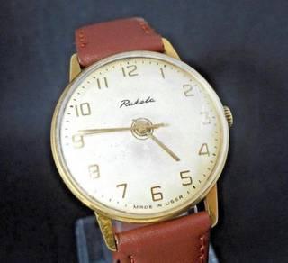Raketa vintage Russian gold wrist watch jam tangan