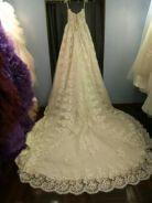 Super luxury long tail wedding gown