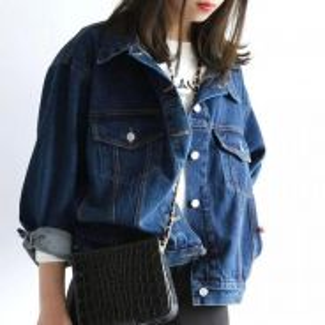 Retro Casual Simple Loose BF Style Denim Jacket