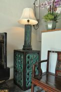 Heritage Green Pottery Table Lamp