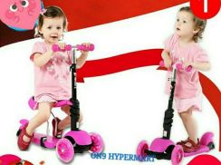 Kids scooter - dual function - seat + stand type