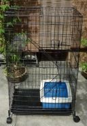 New 2 Level Cat Cage With Wheel n Litter Tray