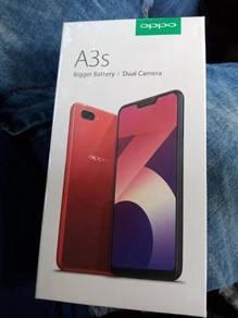 Oppo a3s dark purple 16gb new set