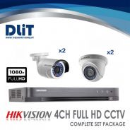 HikVision 4CH 1080p Full HD CCTV Complete Set Pack