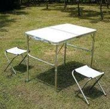 Meja lipat Foldable Picnic Table - free 2 kerusi