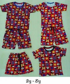 Set Baju siang kanak kanak Mickey