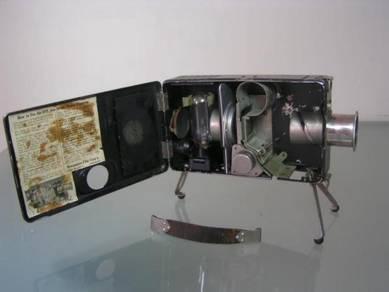 Antique jam handy pocket explainer / projector
