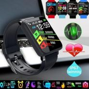 New smartwatch fitness +read call +whatsapp text