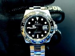 Preowned new rolex gmt master ii, 116710 ln, 904l